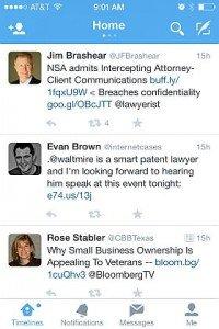 Twitter news feed screenshot