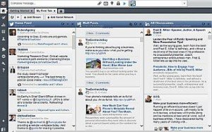 Hootsuite home page image